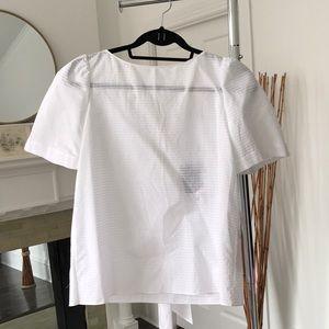 Massimo Dutti new w/ tags geometric eyelet blouse